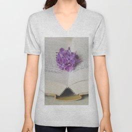 Lilac Bookmark II Unisex V-Neck