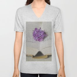 Lilac Bookmark II Unisex V-Neck