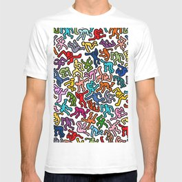Homage to Keith Haring Color T-shirt