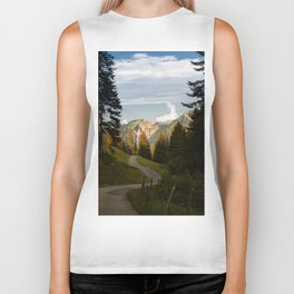 through the woods and over the mountains Biker Tank
