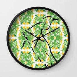 Egret and Foliage Wall Clock