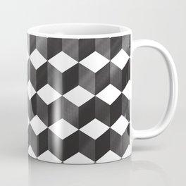 CUBE - gradient black on white Coffee Mug