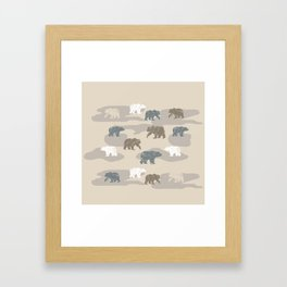 Bearish camouflage Framed Art Print