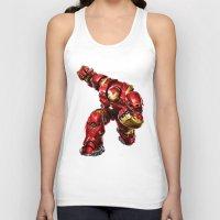 iron man Tank Tops featuring IRON MAN IRON MAN by Smart Friend