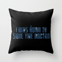 The Impossible Girl Throw Pillow