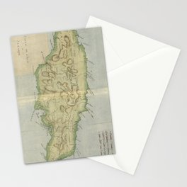 Vintage Map of Jamaica (1780) Stationery Cards