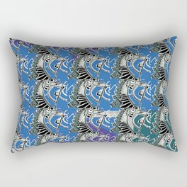 Floating Stairs Pattern Rectangular Pillow