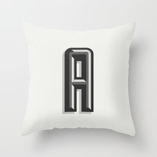 Letter A Throw Pillow