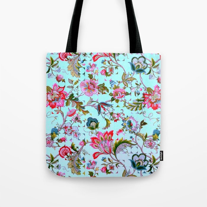 ancient floral Tote Bag