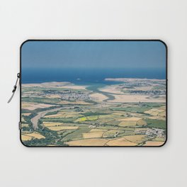 Aerial Views over North Cornwall - Padstow and Rock Laptop Sleeve