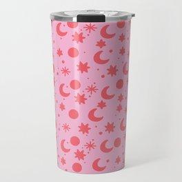 Cosmis space in pinky red Travel Mug