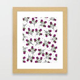 Rose Sprig Pattern Framed Art Print