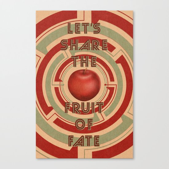 let's share the fruit of fate Canvas Print
