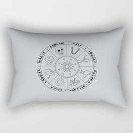 Pagan Calendar Line Rectangular Pillow