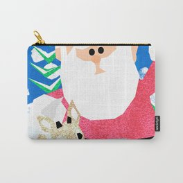 Santa and Rudolph Carry-All Pouch