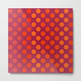 """Warm Burlap Texture & Polka Dots"" Metal Print"