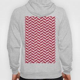 Crimson Red Herringbone Pattern Hoody