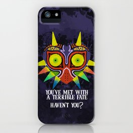 Majora's Mask Splatter (Quote) iPhone Case