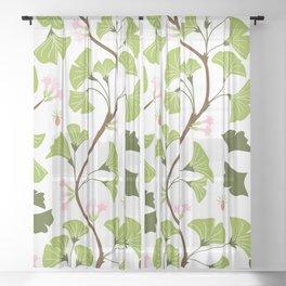 tree leaves #762 Sheer Curtain