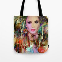 navajo Tote Bags featuring Princess Navajo by Ganech joe