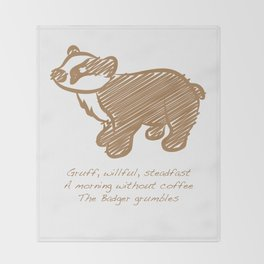Badger Throw Blanket