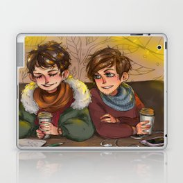 louis and harry at the cafe Laptop & iPad Skin