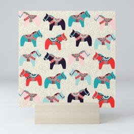 Cute Dala Horses Print Mini Art Print