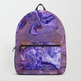 Purple Marble Earth Backpack