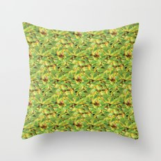 Green Leaves Surface Design Pattern Throw Pillow