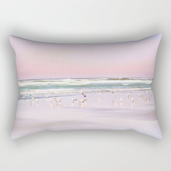 pastel beach Rectangular Pillow