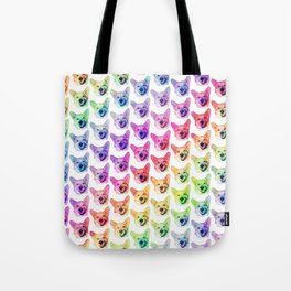 Rainbow Corgis Tote Bag