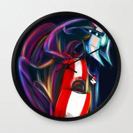 NEON LEGION Fan art Wall Clock