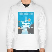 travel poster Hoodies featuring Tomorrowland Travel Poster by Rob Yeo Design