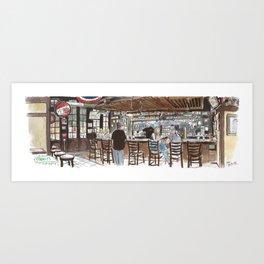O'Mally's pub, Sacramento Art Print