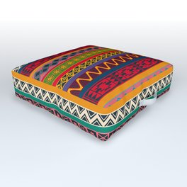 African pattern No4 Outdoor Floor Cushion