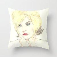 Debbie Harry Throw Pillow