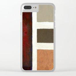 Textured Cubism -Modern Art - Office Art - Hospitality Art - Corbin Henry Clear iPhone Case