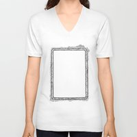 frame V-neck T-shirts featuring frame by 13diamondhearts
