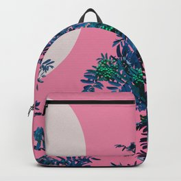 Pink sky and rowan tree Backpack