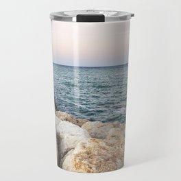 Sunset at the seawall Travel Mug