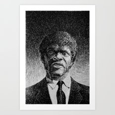 Jules Winnfield Portrait  Samuel L Jackson Pulp Fiction Art Print