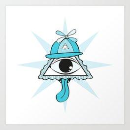 The Blue Eye Art Print