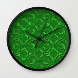 Abstract circles green illustration. Wall Clock