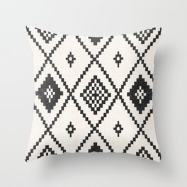 Salah in Black and White Throw Pillow