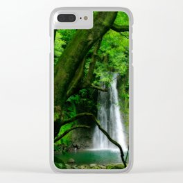 Waterfall in Azores islands Clear iPhone Case
