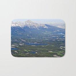 Areial view of Jasper lakes Bath Mat