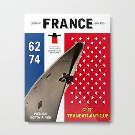 France Liner Paquebot New-York Cruise Metal Print