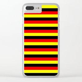 angola belgium uganda flag stripes Clear iPhone Case