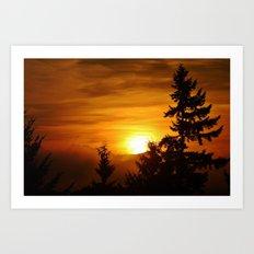Bellevue Washington Sunrise Art Print