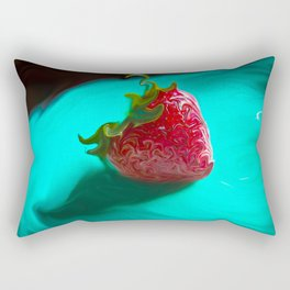 Fresh Strawberry Rectangular Pillow